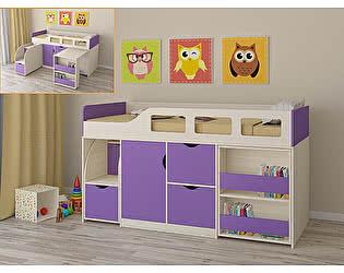 Купить кровать РВ Мебель чердак Астра-8 Дуб Молочный
