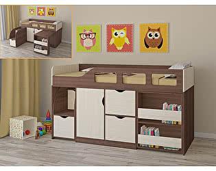 Купить кровать РВ Мебель чердак Астра-8 Дуб Шамони