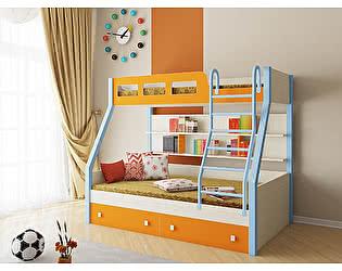 Купить кровать РВ Мебель Рио Дуб молочный двухъярусная