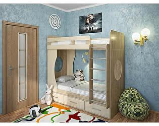 Купить кровать Милана Милана-1 Сонома двухъярусная