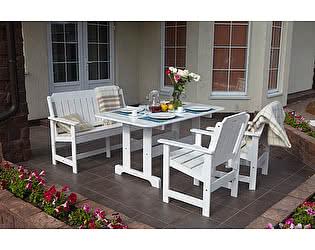 Купить комплект садовой мебели Timberica Скамья Ярви + 2 кресла Ярви + стол Ярви