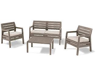 Купить комплект садовой мебели Keter Набор пластиковой мебели Delano set 17201088