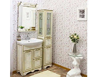 Купить готовую ванную комнату Sanflor Адель 65 белая, патина золото