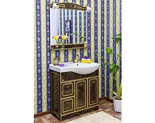 Купить готовую ванную комнату Sanflor Адель 82 венге, патина золото, L