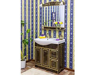 Купить готовую ванную комнату Sanflor Адель 82 венге, патина золото, R