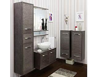 Купить готовую ванную комнату Sanflor Румба 82 венге, патина серебро