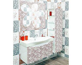 Купить готовую ванную комнату Sanflor Санфлор 100 белая, патина красная