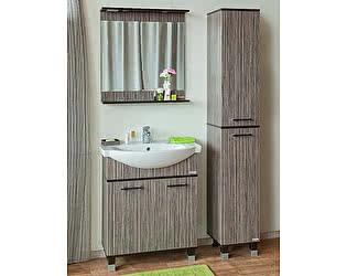 Купить готовую ванную комнату Sanflor Толедо 75 венге, зебрано нюанс