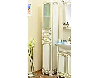 Купить шкаф Sanflor Каир белый, золотая патина L