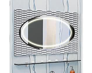Купить зеркало Sanflor Белла 100 белое, патина серебро