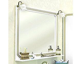 Купить зеркало Sanflor Каир 100 белое, золотая патина