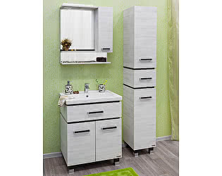 Купить готовую ванную комнату Sanflor Мебель для ванной Техас 70 венге, северное дерево светлое