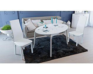 Купить стол ТриЯ Марсель раздвижной со стеклом, арт. СМ(Б)-102.01.12(1)