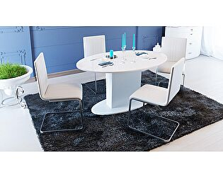 Купить стол ТриЯ Марсель раздвижной со стеклом, арт. СМ(Б)-102.01.12(2)