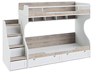 Купить кровать ТриЯ Ривьера с приставной лестницей, арт. СМ 241.11.12