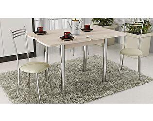 Купить стол ТриЯ Лион с хромированными ножками, арт.СМ-204.02.2