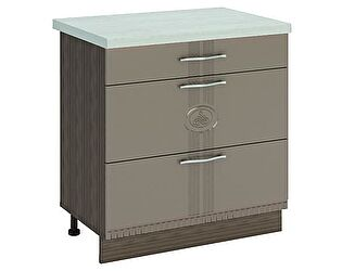 Купить стол Витра 80 3 ящика (метабоксы) Афина-18, 18.67