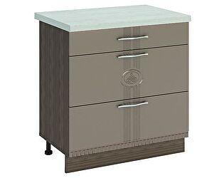 Купить стол Витра 80 3 ящика (с системой плавного закрывания) Афина-18, 18.92