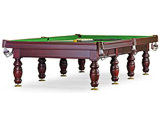 Купить стол Weekend Billiard Company бильярдный для русского бильярда Дебют 12 футов (махагон, плита 45мм, 8 ног)