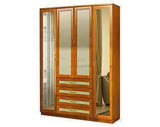 Купить шкаф Уют Сервис Гарун 110 для белья с двумя зеркалами