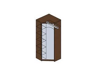 Купить шкаф Заречье угловой с зеркалом Модена, мод. М14