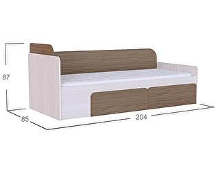 Купить кровать Moon Trade Скейт Модель 505 Бамбук/Дуб молочный c щит-основанием