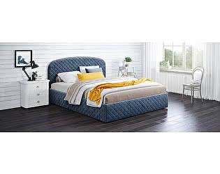 Купить кровать Moon Trade Аллегра 160х200 Модель 1204 (синий) с основанием