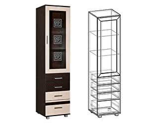 Купить шкаф Мебель Маркет Пенал Каролина 3 со стеклом