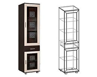 Купить шкаф Мебель Маркет Пенал Каролина 2 о стеклом