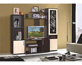 Купить гостиную Мебель Маркет Флокс 5 (Венге/Дуб молочный)