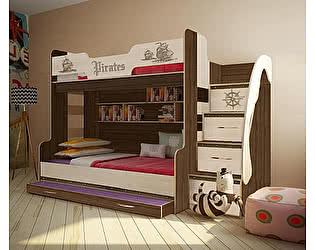 Купить кровать Фанки Кидз Пираты ПР-21 двухъярусная