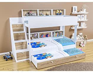Купить кровать Белый слон Golden Kids 10.1 трехъярусная