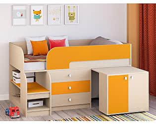 Купить кровать РВ Мебель чердак Астра-9 Дуб молочный V7