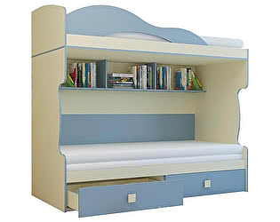 Купить кровать Горизонт Радуга 2 этаж + тахта