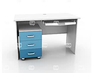 Купить стол Tomy Niki прямой c выкатной тумбой и полкой под клавиатуру
