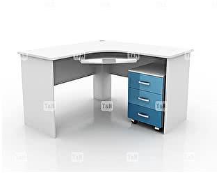 Купить стол Tomy Niki Emme угловой c выкатной тумбой и полкой под клавиатуру
