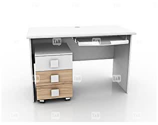 Купить стол Tomy Niki Lucas Oak S10 прямой с выкатной тумбой и полкой под клавиатуру