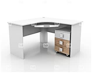 Купить стол Tomy Niki Lucas Oak S20 угловой с выкатной тумбой и полкой под клавиатуру