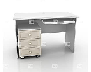 Купить стол Tomy Niki Michael S10 прямой c выкатной тумбой и полкой под клавиатуру