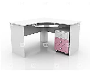 Купить стол Tomy Niki Robin S20 угловой c выкатной тумбой и полкой под клавиатуру