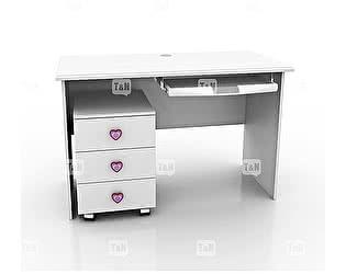 Купить стол Tomy Niki Mary S10 прямой c выкатной тумбой и полкой под клавиатуру