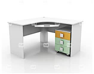 Купить стол Tomy Niki Tracy S20 угловой c выкатной тумбой и полкой под клавиатуру