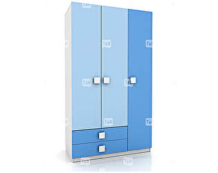Купить шкаф Tomy Niki Rich E31 3х дверный (2 ящика)