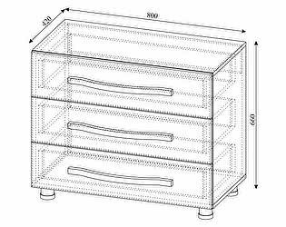 Купить комод SV-мебель Алекс-1 3 ящика (шимо темный / шимо светлый)