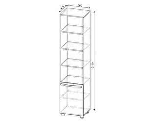 Купить шкаф SV-мебель Пенал Алекс-1 открытый (шимо темный / шимо светлый)