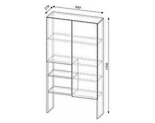 Купить надстройку SV-мебель Алекс-1 к комоду (шимо темный / шимо светлый)