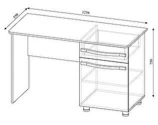 Купить стол SV-мебель Алекс-1 (шимо темный / шимо светлый)