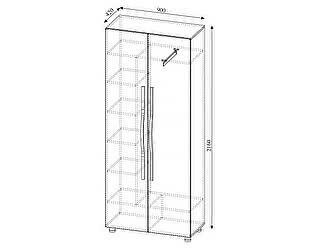 Купить шкаф SV-мебель Алекс-1 двустворчатый (шимо темный / шимо светлый)
