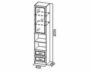 Купить шкаф SV-мебель Пенал со стеклом Вега ДМ-05