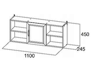 Купить полку SV-мебель Вега ДМ-10 (1,1 м) навесная